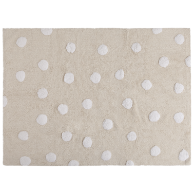Lorena Canals Washable Rug Topos Beige Polka Dot