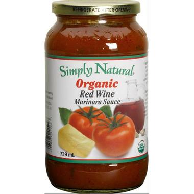 Simply Natural Organic Red Wine Marinara Sauce