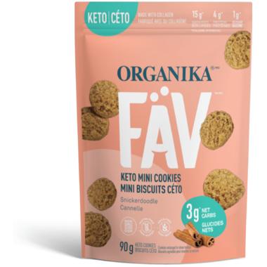 Organika Fav Keto Mini Cookies Snickerdoodle