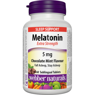 Webber Naturals Extra Strength Melatonin Chocolate Mint Flavour