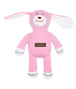 Juddlies Cottage Collection Organic Rattle Rabbit Sunset Pink