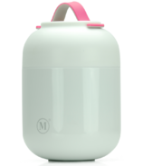 Minimal Large Insulated Food Jar with Spoon White
