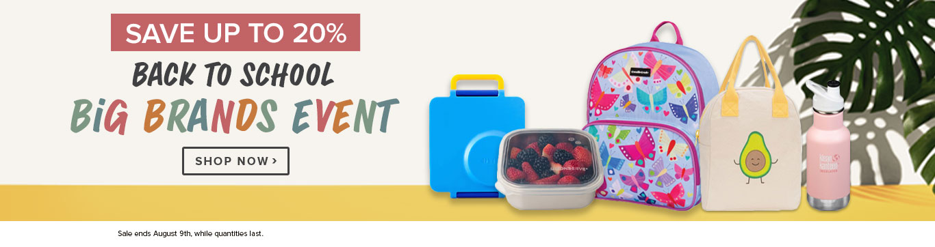 Save up to 20% on Back to School Big Brands Event