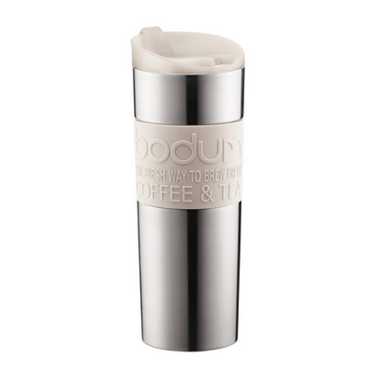 Bodum Travel Mug Stainless Steel White