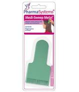 Pharmasystems Peigne à poux en métal à balayage moyen