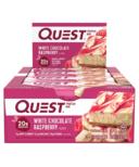 Quest Nutrition Protein Bar White Chocolate Raspberry Case