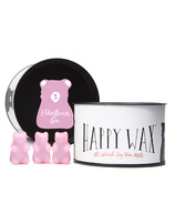 Happy Wax Classic Tin Bear Shaped Wax Melts Elderflower Gin