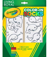 Crayola Living Royal Color-In Socks Narwhal Fun