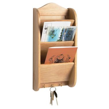 Beechwood Letter Rack