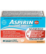 Aspirin 81mg Quick Chews Daily Low Dose Orange Flavour