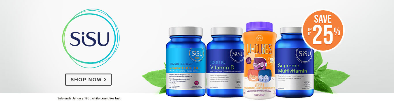 Save up to 25% on Sisu Vitamins