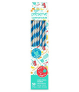 Preserve Compostables Straws Blue