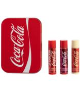 Trio de boîtes de baume à lèvres Coca-Cola Lip Smacker