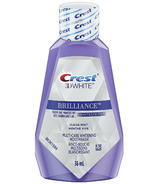 Crest 3D White Brilliance Alcohol Free Whitening Mouthwash Travel Size