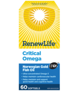 Renew Life Critical Omega Norwegian Gold Fish Oil and Omega 3's