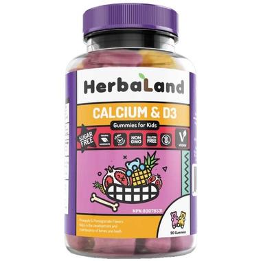 Herbaland Gummies for Kids: Calcium & D3