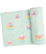 Angel Dear Banana Split Swaddle Blanket Mint
