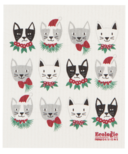 Now Designs Ecologie Swedish Sponge Cloth Meowy Christmas