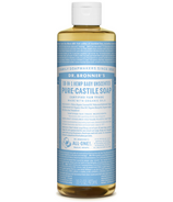 Dr. Bronner's Organic Pure Castile Liquid Soap Baby Unscented 16 Oz