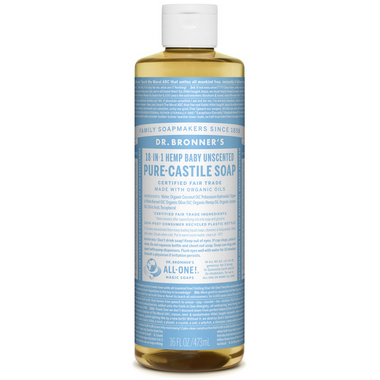Dr. Bronner\'s Organic Pure Castile Liquid Soap Baby Unscented 16 Oz