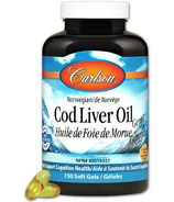 Carlson Cod Liver Oil with Low Vitamin A Lemon Flavour