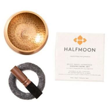 Halfmoon Brass Singing Bowl Set