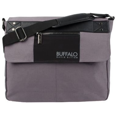 Buffalo David Bitton Frank Messenger in Grey & Black