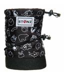 Stonz Black & White Stonz Print Infant Booties