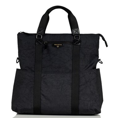 TWELVElittle Unisex 3-in-1 Foldover Tote Black