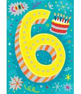 Peaceable Kingdom Age 6 Pattern Foil Card