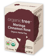 OrganicTree Organic Moringa Cinnamon Rose Tea
