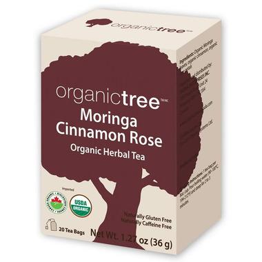 OrganicTree Organic Moringa Cinnamon Rose Tea