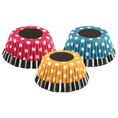 Retro Polka Dot Bake Cups Set