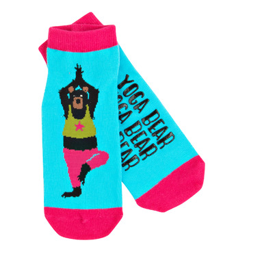 Little Blue House Women\'s Ankle Socks Yoga Bear