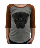 L&P Apparel 3/4 Sleeve Shirt Heather Grey & Caramel Rottweiler