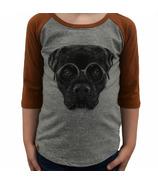 L&P Apparel 3/4 Sleeve Shirt Heather Grey & Caramel Rottweiler