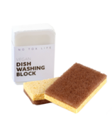 No Tox Life Dish Block Bar & Walnut Scrubbing Sponges Bundle