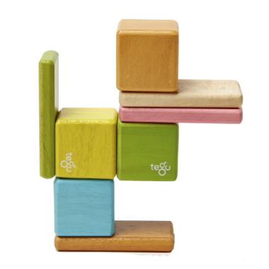 Tegu Original Pocket Pouch Magnetic Wooden Block Set Tints