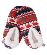Chaussons chauds et douillets Hatley pour adultes - Fair Isle Bear