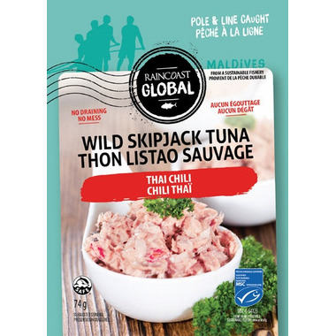 Raincoast Global Wild Skipjack Tuna Pouch Thai Chili