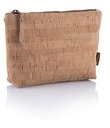 bambu Cork Fabric Zip Pouch Large
