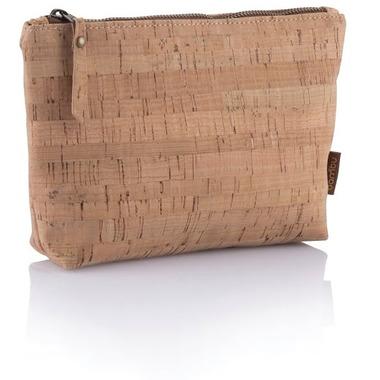 bambu Cork Fabric Zip Pouch Small