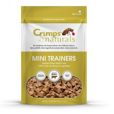 Crumps Naturals Mini Trainers Freeze Dried Beef Liver