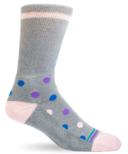 Dr. Segal's Diabetic Socks Polka Dot Grey