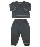 Juddlies Designs - Ensemble deux pièces de jogging en coton Breathe EZE - Fleck anthracite