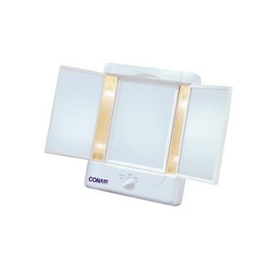 Conair Three Panel Lighted Mirror with 4 Light Settings