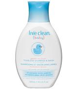Live Clean Baby Gentle Moisture Tearless Shampoo & Wash