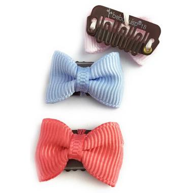 Baby Wisp 3 Pack Set Mini Latch Tuxedo Pink, Blue, Melon