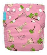 Charlie Banana Sophie La Girafe Reusable Diaper with Inserts Pink