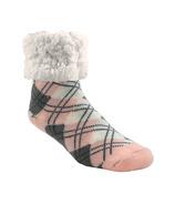 Pudus Classic Slipper Socks Argyle Blush